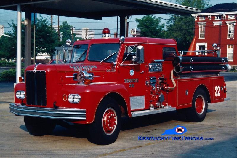 RETIRED<br /> Lexington Reserve Engine 32<br /> x-Engine 11 <br /> 1965 Maxim 1000/200<br /> Greg Stapleton photo