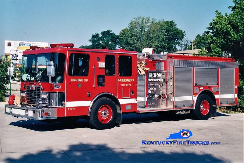 Lexington Reserve Engine 38<br /> x-Engine 8<br /> 1997 HME/Smeal 1250/1000<br /> Greg Stapleton photo