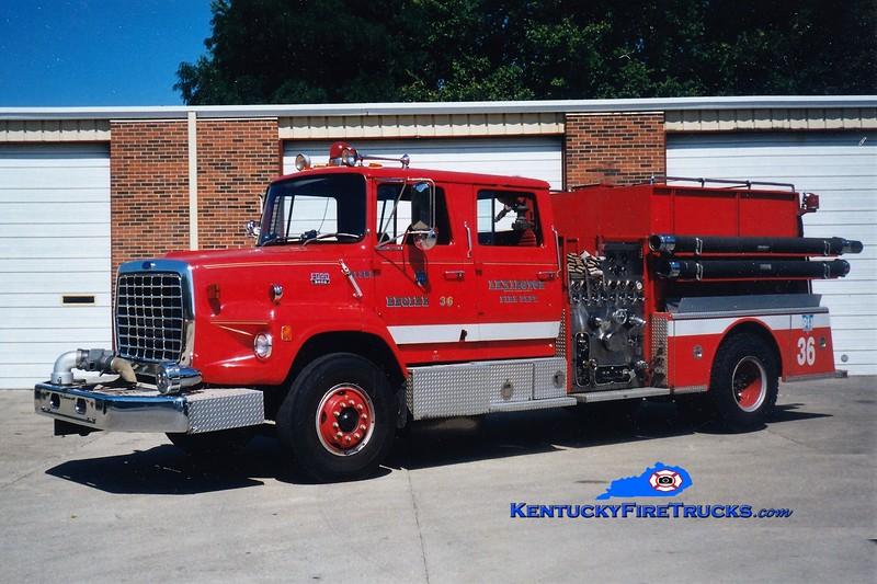 RETIRED<br /> Lexington Reserve Engine 36<br /> x-Engine 16<br /> 1983 Ford L/American LaFrance 1250/1000<br /> Greg Stapleton photo
