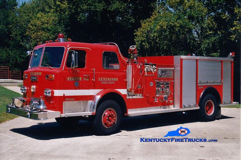 RETIRED<br /> Lexington Reserve Engine 34<br /> x-Engine 1 <br /> 1976 Pirsch/1993 Summit 1250/500<br /> Greg Stapleton photo