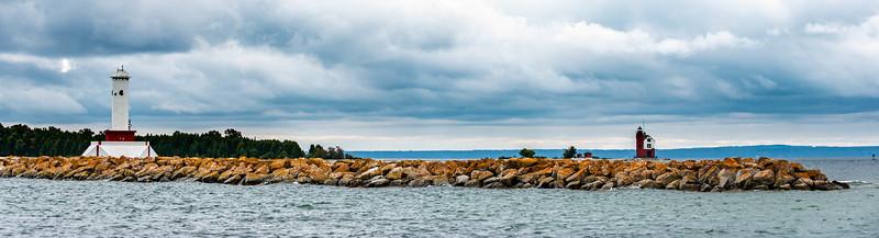 Round Island Passage Light with Round Island Light in the Background