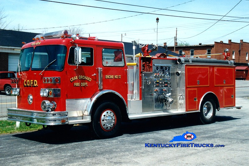<center> Crab Orchard  Engine 12 <br> x-Franklin Twp, OH <br> 1978 Sutphen Deluge 1000/1000 <br> Greg Stapleton photo </center>