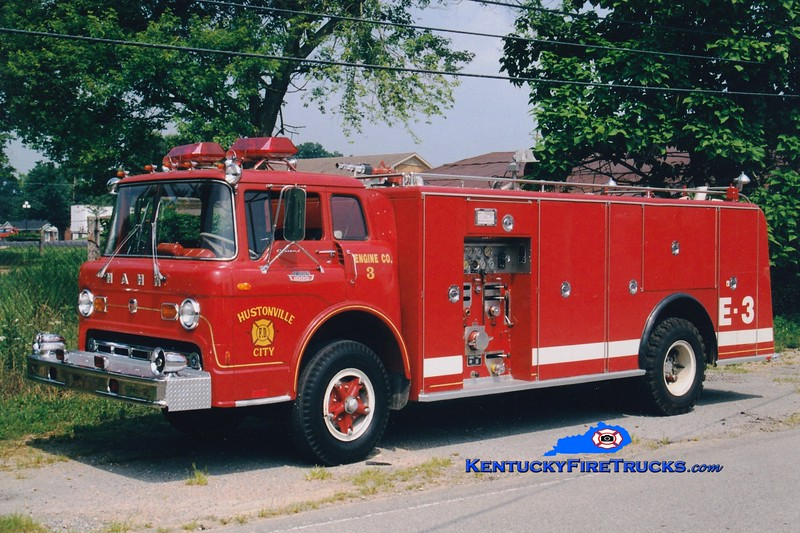 <center> RETIRED <br> Hustonville  Engine 3  <br> x-Birdsboro, PA; Lincoln County, KY  <br> 1968 Ford C-1000/Hahn 1000/1000 <br> Greg Stapleton photo <br> </center>