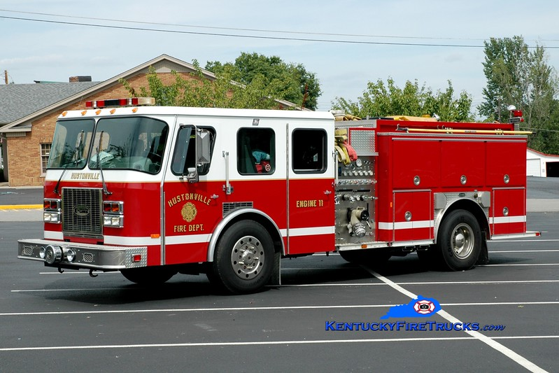 <center> Hustonville  Engine 11  <br> x-Jonesboro, AR <br> 1996 E-One American Eagle 1250/1000 <br> Greg Stapleton photo <br> </center>