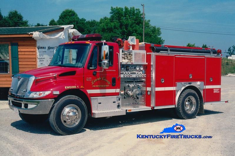 <center> Lincoln County Engine 1  <br> 2003 International 4400/E-One 1250/1000 <br> Greg Stapleton photo <br> </center>