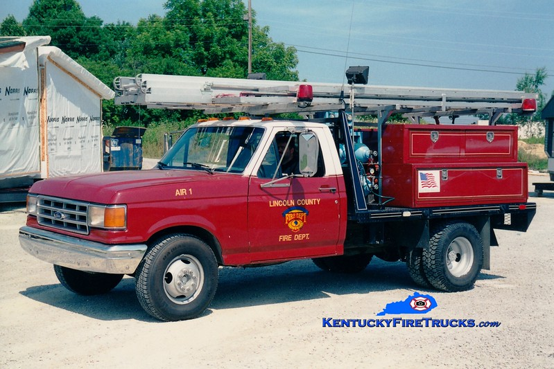 <center> RETIRED <br> Lincoln County Air 1  <br> 1994 Ford F-350/Local  <br> Greg Stapleton photo <br> </center>