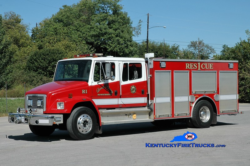 Lincoln County Rescue 1<br /> 1995 Freightliner FL80/Smeal<br /> Greg Stapleton photo