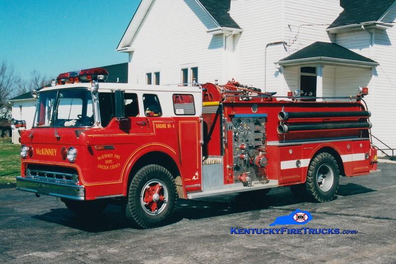<center> RETIRED <br> Lincoln County Engine 4  <br> 1972 Ford C/Oren 1000/800 <br> Greg Stapleton photo <br> </center>