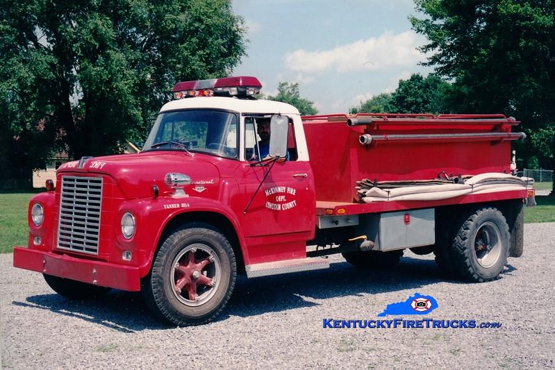 <center> RETIRED <br> Lincoln County Tanker 44  <br> 1968 International Loadstar/Local 250/1250 <br> Greg Stapleton photo <br> </center>
