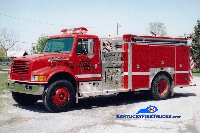 <center> Lincoln County Engine 6  <br> 2003 International 4900/E-One 1250/1000 <br> Greg Stapleton photo </center>