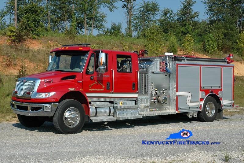 <center> REASSIGNED <br> Lincoln County Engine 5  <br> 2007 International 4400/Wynn 1250/1000 <br> Greg Stapleton photo </center>