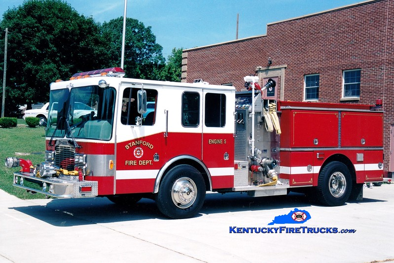 <center> RETIRED <br> Stanford  Engine 5 <br> x-Indianapolis, IN <br> 1990 HME/Grumman Panther II 1250/500 <br> Greg Stapleton photo </center>