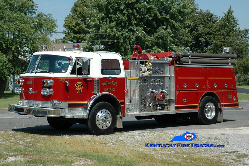 <center> Burna  Engine 44 <br> x-West Meade Twp, PA <br> 1980 American LaFrance Century 1250/1000 <br> Greg Stapleton photo </center>