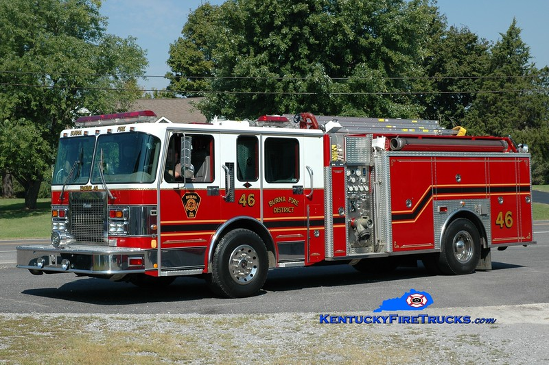 <center> Burna  Engine 46 <br> x-Hemby Bridge, NC <br> 1995 Spartan/Marion 1500/1000 <br> Greg Stapleton photo </center>