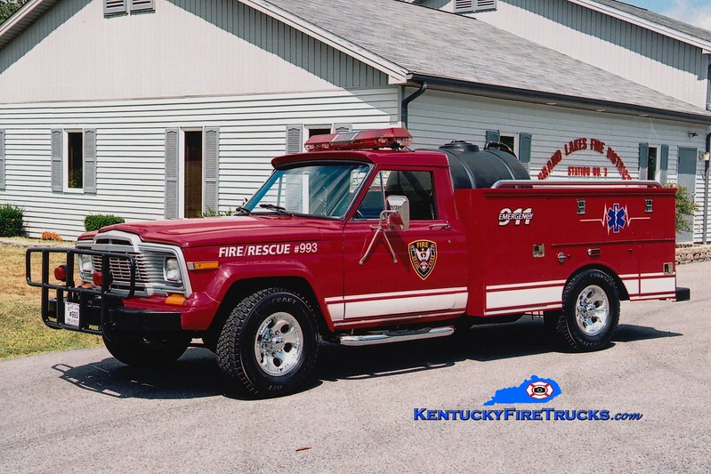<center> Grand Lakes  Brush 993 <br> 1980 Jeep CJ20/Knapheide/GLFD 250/225 <br> Greg Stapleton photo </center>