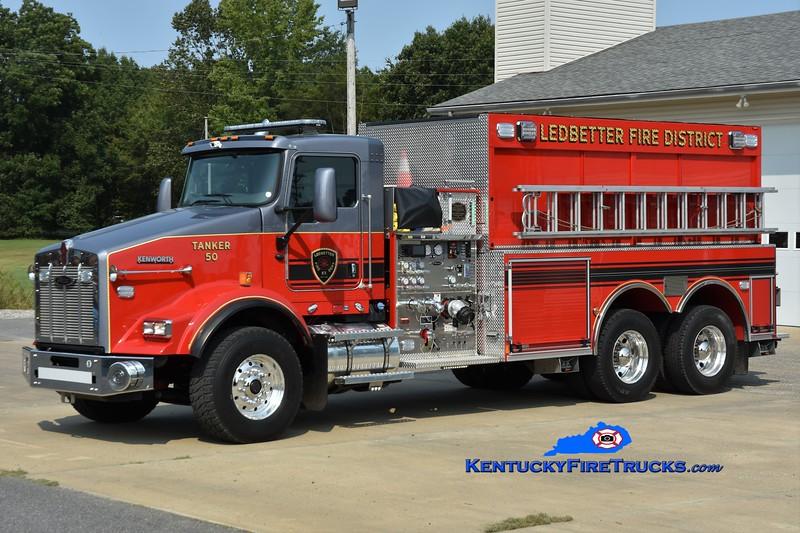 Ledbetter Tanker 50<br /> 2021 Kenworth T-800/Pierce 1250/3000<br /> Greg Stapleton photo