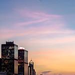 Moonrise over Hong Kong Island, Hong Kong.