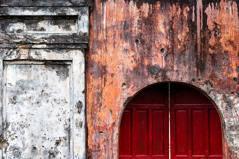 The few walls which remain of Hue's Imperial City still bear napalm scorch-marks left by the US assault in February 1968.