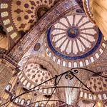 Completed 400 years ago, the domes of the Sultan Ahmet mosque are inlaid with thousands of Iznik tiles painted in the characteristic blue for which the structure has become known.