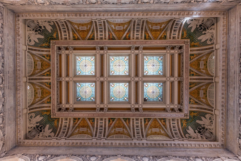 The Library of Congress - Looking up from the main lobby
