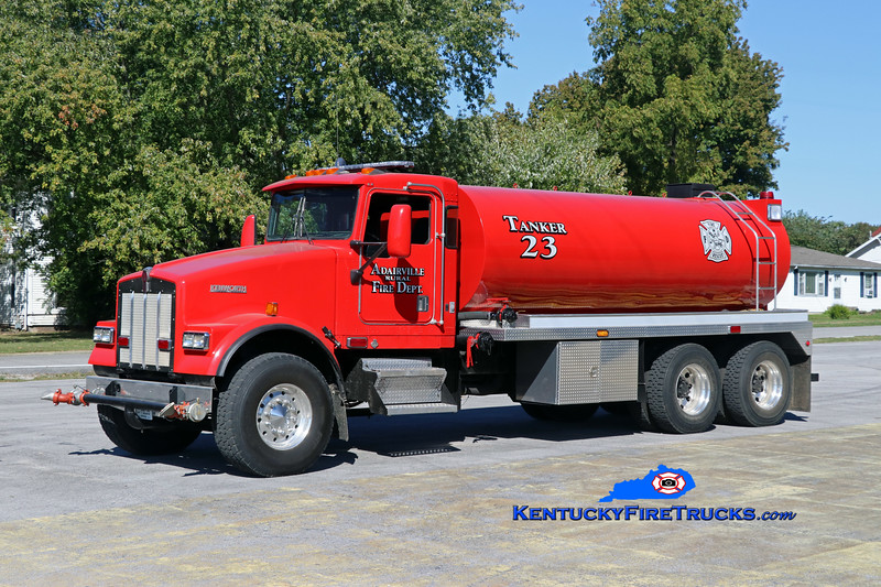Adairville Rural  Tanker 23<br /> 2000 Kenworth W900B/2014 Osco 250/3000<br /> Kent Parrish photo
