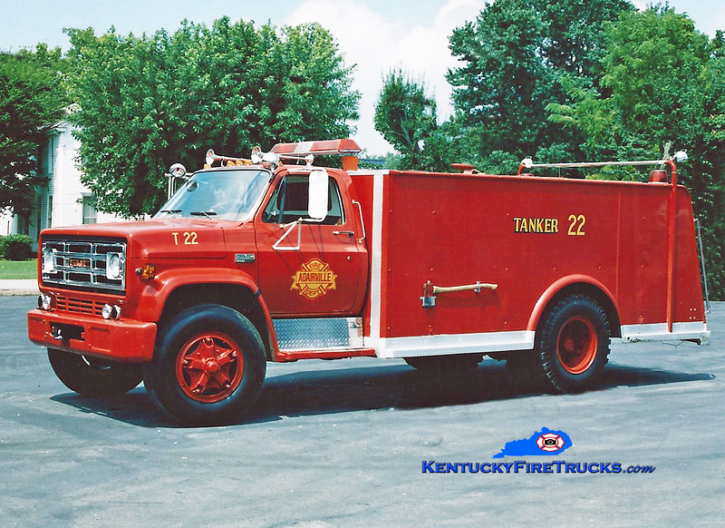 <center> RETIRED <br> Adairville Rural  Tanker 22 <br> 1975 GMC/Local 0/1500 <br> Kent Parrish photo </center>