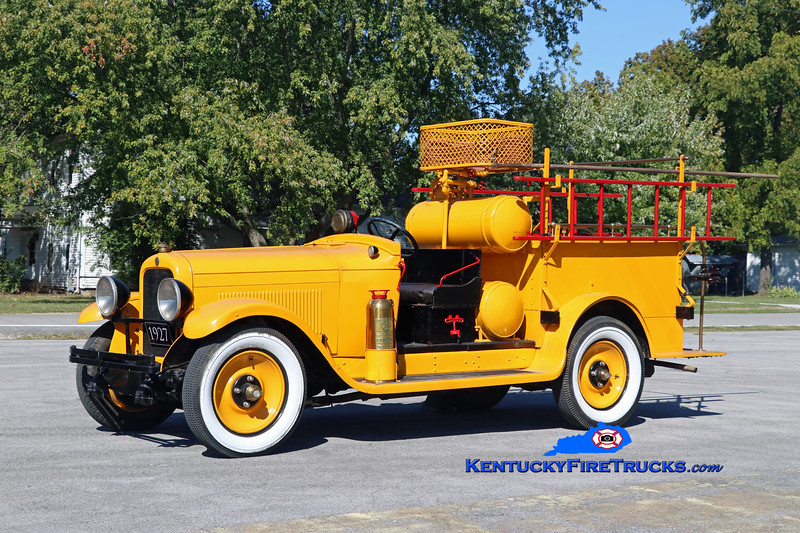 Adairville <br /> *City's very first fire engine<br /> 1927 GM/Yellow Cab Mfg Co Chemical Unit<br /> Kent Parrish photo