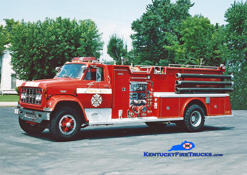<center> RETIRED <br> Adairville Rural  Engine 23 <br> 1969 GMC/Sanford 1000/800 <br> Kent Parrish photo </center>