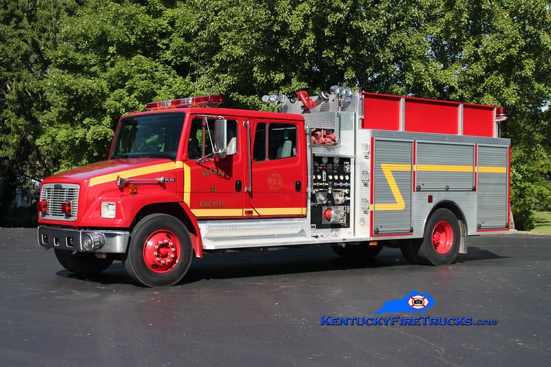 <center> Auburn City  Engine 30 <br> 1998 Freightliner FL70/Wolverine 1250/1000 <br> Kent Parrish photo </center>