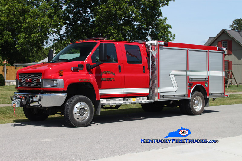<center> Lewisburg Rural  Rescue 45  <br> 2007 GMC 5500 4x4/Wynn CAFS/200/10 <br> Kent Parrish photo <br> </center>