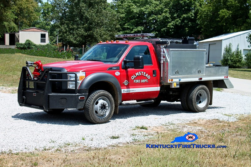 <center> Olmstead  Squad 12 <br> 2013 Ford F-550 4x4/Daco Fire 250/300/10 <br> Kent Parrish photo </center>