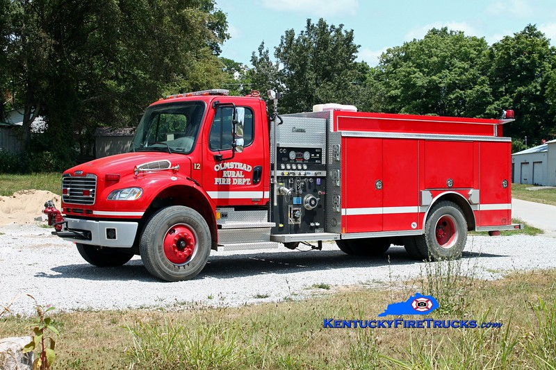 <center> Olmstead  Engine 12 <br> 2006 Freightliner M2-106/Rosenbauer-Central 1000/1200 <br> Kent Parrish photo </center>