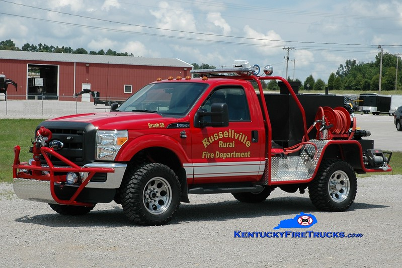 <center> Russellville Rural  Brush 58 <br> 2013 Ford F-350 4x4/1st Attack 350/250 <br> Greg Stapleton photo </center>