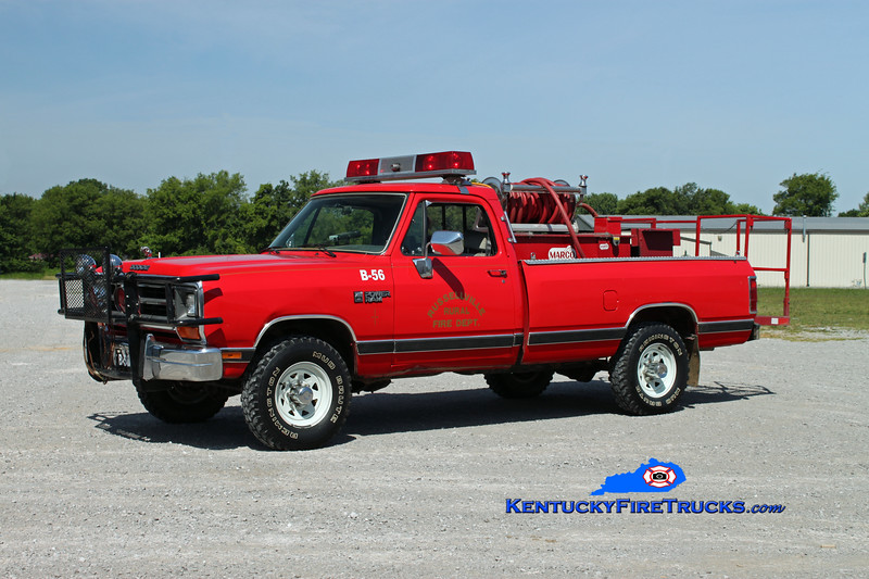 <center> Russellville Rural  Brush 56 <br> 1989 Dodge Ram 4x4/Marco 250/250 <br> Kent Parrish photo </center>