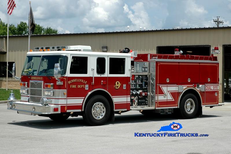<center> Russellville  Engine 9 <br> 2008 Pierce Contender 1250/1000 <br> Greg Stapleton photo </center>