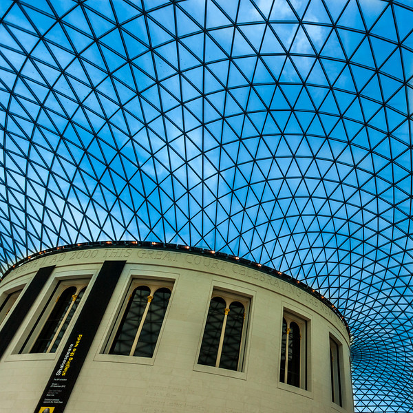 The Great Court in the British Museum in London.