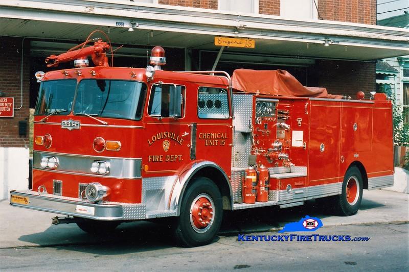 RETIRED <br /> Louisville Chemical Unit 15<br /> x-Chemical Unit 1 <br /> 1978 Pirsch 500/500/200F/CO2/DC <br /> Kent Parrish collection
