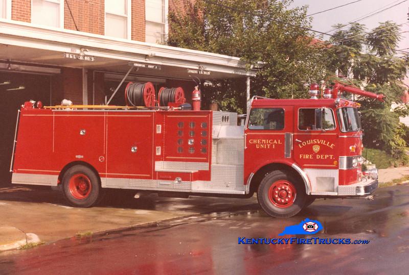 <center> RETIRED <br> Louisville  Chemical Unit 1 <br> 1978 Pirsch 500/500/200F/CO2/DC <br> Kent Parrish collection <br> </center>