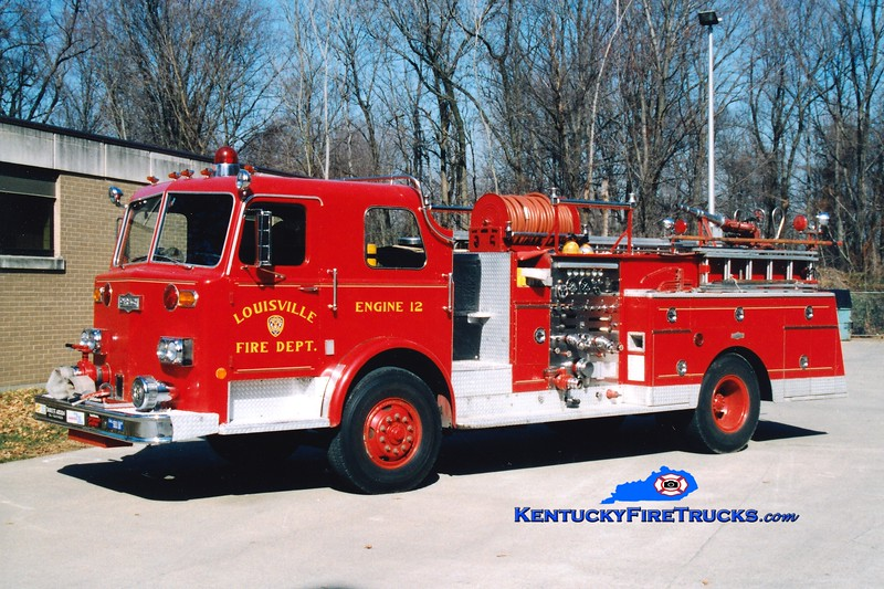 <center> RETIRED <br> Louisville  Engine 12 <br> 1975 Pirsch 1000/300 <br> Greg Stapleton photo <br> </center>