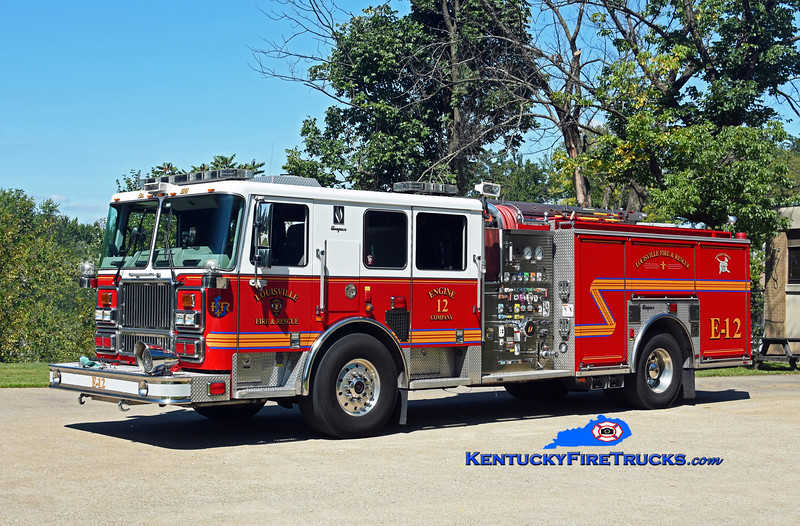 Louisville Engine 12<br /> x-Engine 11<br /> 2009 Seagrave Marauder II 2000/500/20<br /> Kent Parrish photo