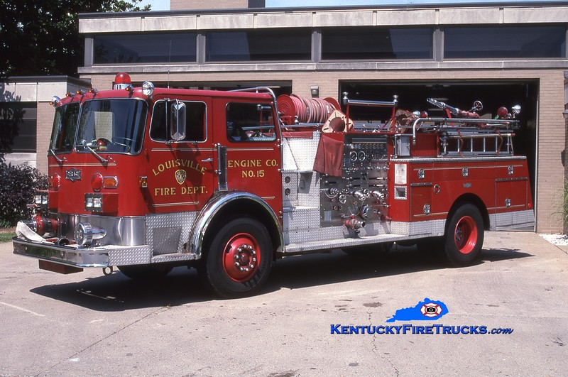 <center> RETIRED <br> Louisville  Engine 15 <br> x-Engine 5 <br> 1980 Pirsch 1500/300 <br> Greg Stapleton photo <br> </center>