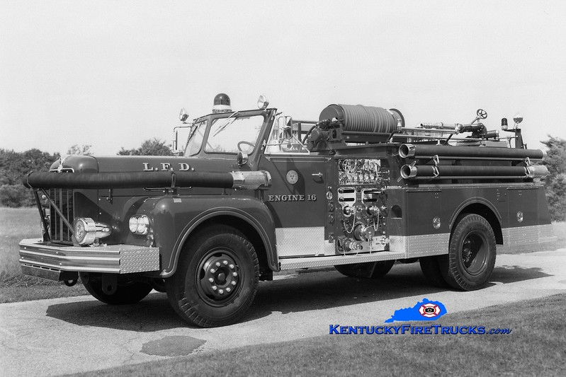 <center> RETIRED <br> Louisville  Engine 16 <br> 1964 Maxim 1250/200 <br> Greg Stapleton collection <br> </center>