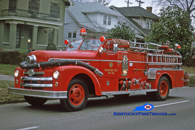 RETIRED <br /> Louisville Engine 18 <br /> 1952 Seagrave 750/200 <br /> Kent Parrish collection