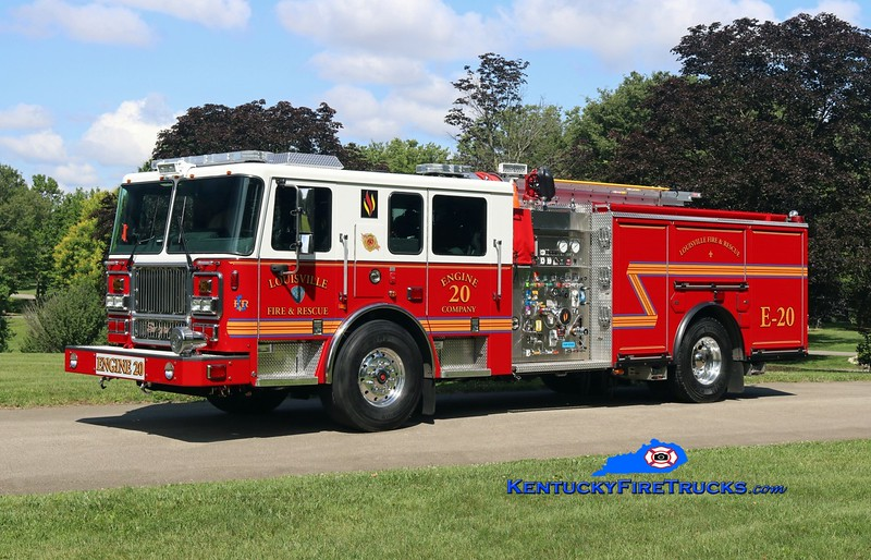 Louisville  Engine 20<br /> 2017 Seagrave Marauder II 2000/500/20<br /> Kent Parrish photo