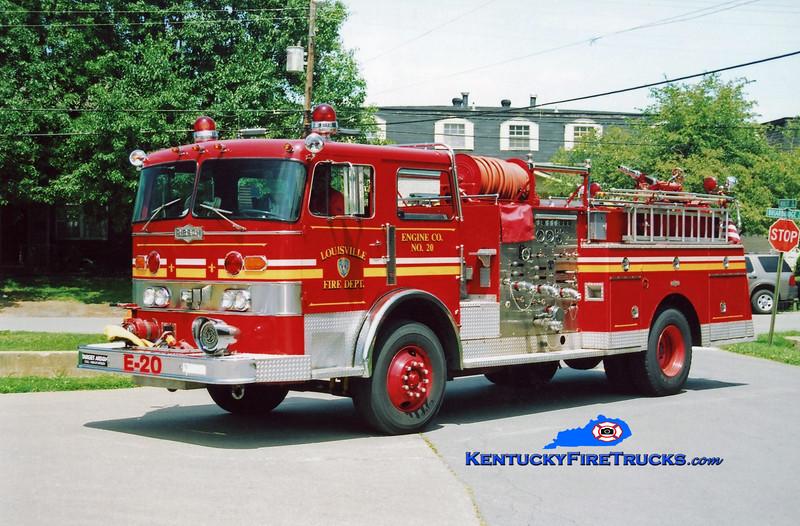 <center> RETIRED <br> Louisville  Engine 20 <br> x-Engine 15 and Engine 22 <br> 1979 Pirsch 1500/300  <br> Kent Parrish photo </center>