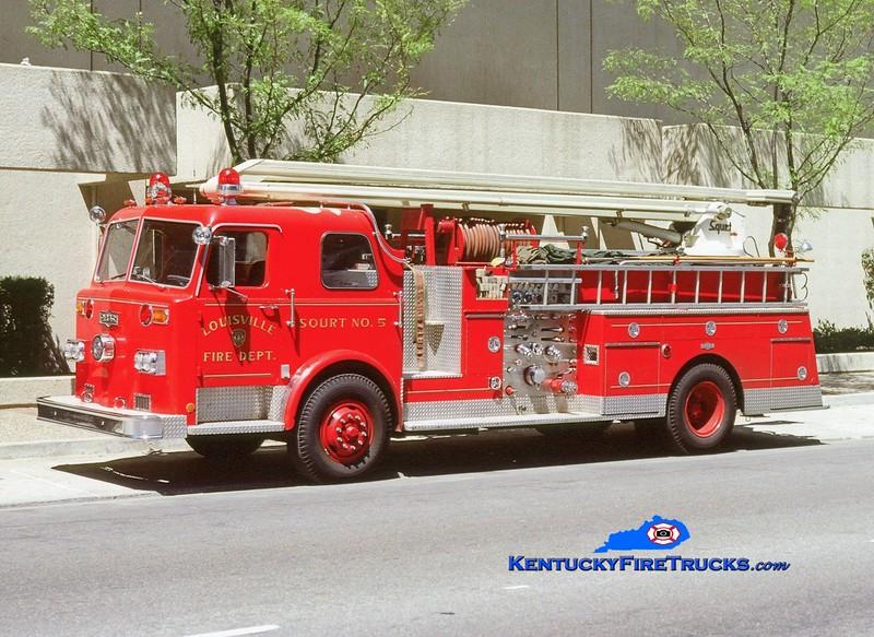 <center> RETIRED <br> Louisville  Squrt 5 <br> 1974 Pirsch 1000/300/54' Squrt  <br> Kent Parrish collection </center>