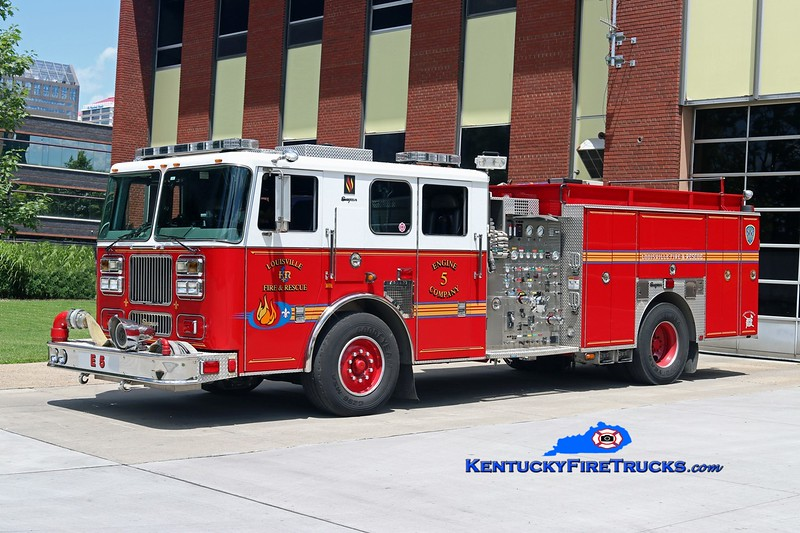 Louisville  Engine 5<br /> x-Engine 20<br /> 2003 Seagrave Marauder 1500/500/20<br /> Kent Parrish photo