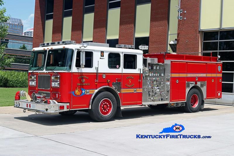 Louisville  Engine 5<br /> x-Engine 20<br /> 2003 Seagrave Marauder 1500/500/20<br /> Kent Parrish photo