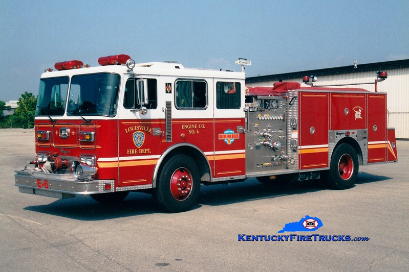 <center> Auxiliary Engine 106 <br> Louisville  Engine 6 <br> 1994 Seagrave Commander 1500/500 <br> Greg Stapleton photo </center>