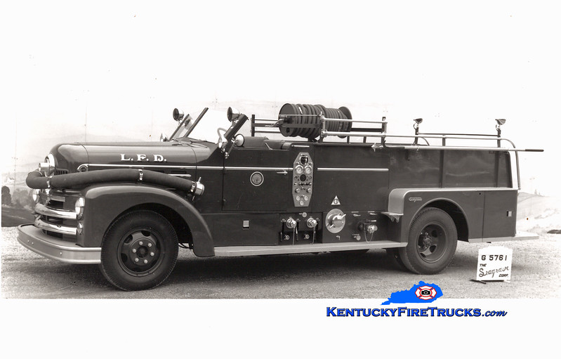 <center> RETIRED <br> Louisville  Engine 6 <br> 1953 Seagrave 750/200 <br> Kent Parrish collection </center>